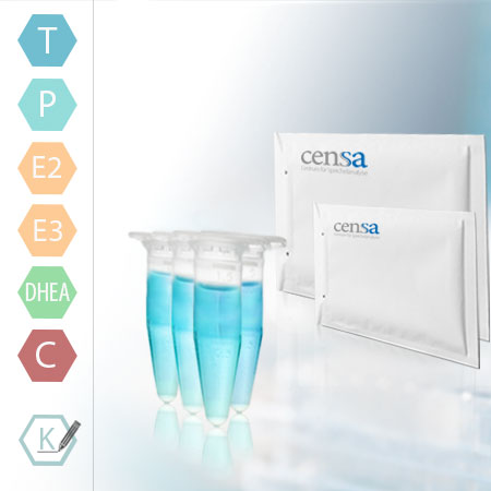 Speicheltest Zu Den Hormonen: Testosteron + Progesteron + Estradiol (E2) + Estriol (E3) + DHEA + 3x Cortisol